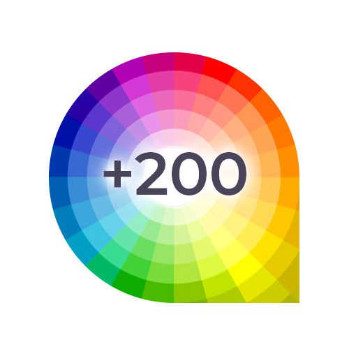 +200 Couleurs RAL